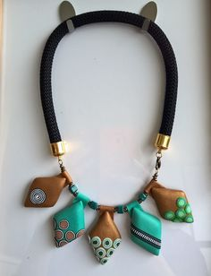 Statement necklace made with Polymer Clay.