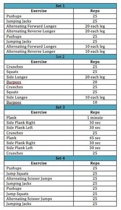 bodyweight workout....would be perfect for the weekends when you want to get a quick workout in without taking too much time away from being with your family