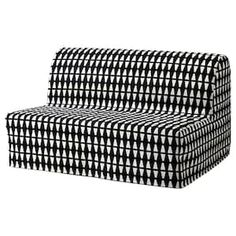 IKEA - LYCKSELE, Sofa-bed cover, Ebbarp black/white, The cover is easy to keep clean as it is removable and can be machine washed. Sofa is sold separately. Futon Mattress, Mattress Covers, Bed Covers, Convertible 2 Places, Sofa Cama Ikea, Sofa Bed Frame, Bed Frames