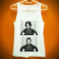 Sam Dean Supernatural Mug Shot Tshirt Shirt Tank by SoHardToLive, $14.99