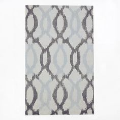 Ikat Links Wool Rug #westelm  area rug and runner  RUNNER living area to dining area