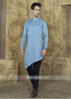 Look stylish with this Light green color Cotton silk fabric classy Pathani designed with Fancy buttons work. Available with cotton silk fabric Navy colored contrast Trouser will create an ideal look in any party. Cotton Silk Fabric, Navy Fabric, Indian Men Fashion, Mens Fashion Suits, Men's Fashion, Pathani Kurta, Mens Pathani, Boys Kurta Design, Gents Kurta