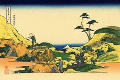 """Below Meguro"", - Thirty-six Views of Mount Fuji - No.15, by Hokusai (1760–1849)"