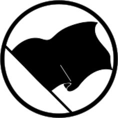 The black flag of anarchism since the 1880s. represents the absence of a flag_ in opposition to the very notion of nation-states and as white flag:symbol for surrender to superior force, the counter-opposite black flag be a symbol of defiance and opposition to surrender. Buccaneers_pirates:The black flag_the lives of the crew would be spared if they surrendered. If the crew resisted, the red flag_the offer of amnesty had been withdrawn; no prisoners would be taken