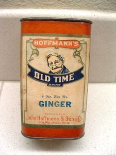 Vintage Hoffman's Old Time Ginger Spice Tin  Milwaukee
