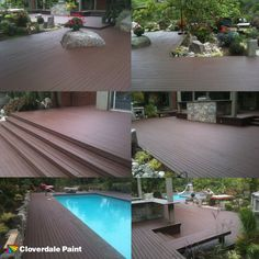 SharkSkin® Deck and Siding Stain on deck and pool surround from - Eagle Crest Home Maintenance & Repair Services, Langley BC