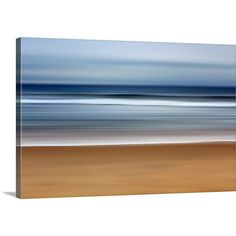 Blue Ocean Beach Canvas Gallery Wrap Navy Beige White Beach Decor... ($185) ❤ liked on Polyvore featuring home, home decor, wall art, grey, home & living, home décor, wall décor, wall hangings, flower canvas wall art and canvas paintings