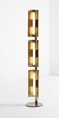Gio Ponti; Brass Floor Lamp for Centro Gallini, c1956.