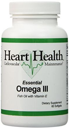 Heart HealthTM Essential Omega III Fish Oil with Vitamin E Single Bottle (30 Servings) -- Check out the image by visiting the link.