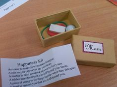 DIY wedding favour idea  A Happiness kit :) #easter #spring