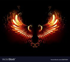 Buy Fire Wings by on GraphicRiver. Wings of fire and flame on black background. AI and JPEG files are included in archive. Angel Wings Art, Angel Wings Drawing, Wings Wallpaper, Neon Wallpaper, Light Background Images, Best Photo Background, Phoenix Feather Tattoos, Logo Free, Phoenix Wings