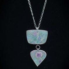 Ruby Fuschite, Fine Sterling Silver Necklace & Earrings