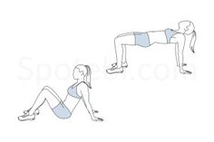 Advanced bridge exercise guide with instructions, demonstration, calories burned and muscles worked. Learn proper form, discover all health benefits and choose a workout. http://www.spotebi.com/exercise-guide/advanced-bridge/