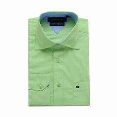 Tommy Hilfiger Long Sleeve Dress Shirts Grass Green Free Shipping Long Sleeve Shirt Dress, Dress Shirts, Tommy Hilfiger Shirts, Grass, Dresses With Sleeves, Free Shipping, Mens Tops, Fashion, Moda