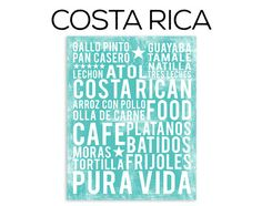 Costa Rican Food Poster