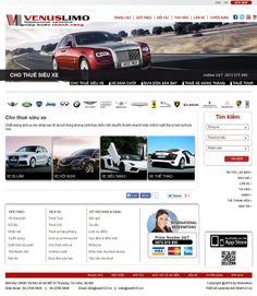 Giao diện website ô tô