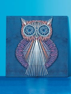 String Art Owl  •  Free tutorial with pictures on how to make string art in under 120 minutes