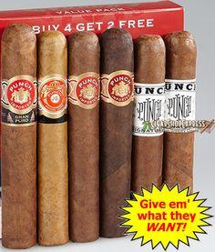 Punch Value Pack holiday cigar sampler - http://cigarshopexpress.com/shop/uncategorized/punch-value-pack-holiday-cigar-sampler/