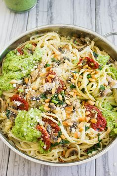 Broccoli Pesto Healthy Pasta from Two Purple Figs Cheese Tortellini Recipes, Pesto Pasta Recipes, Healthy Pasta Recipes, Healthy Pastas, Healthy Meal Prep, Easy Chicken Recipes, Healthy Eating, Vegan Meals, Healthy Food