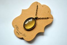Look Not Into The Eyes of Mara  Nail Polish Necklace by TartanHearts / Jewelry Gifts Under 20 women teen girl tiger's eye stocking stuffer Disneyland $12.50