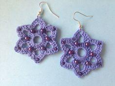 Orecchini all'uncinetto con perline / crochet earrings