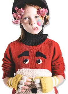 Kids Megatrends A/W 16/17 – OffBeat raft Assortment_Incorporating a sense of interaction and play, whimsical characters are integrated into garments as textures collide to form tactile creations. Designers also experiment with extreme appliqué, attaching soft toys or large-scale padded pets to tops and dresses. The bolder, the better, as play becomes part of the everyday.