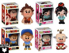 Wreck-It Ralph Pop! Disney Vinyl Figures by Funko - Wreck-It Ralph, Vanellope, Fix-it Felix & King Candy