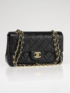 Chanel 2.55, black quilted small classic bag, the bag every woman yearns to have... #chanel #bag