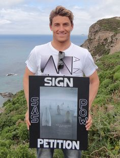 SAS Ambassador Alan Stokes supporting the Protect Our Waves Petition (http://www.protectourwaves.org.uk)