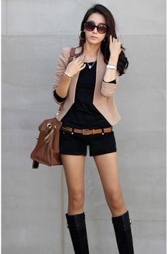 Elegant Design short slim blazer Women's Coat