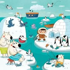Praatplaat : Le_pole_nord So I guess the penguins are there on vacation! Writing Pictures, Silly Pictures, Picture Writing Prompts, Communication Orale, Picture Story, Speech Therapy Activities, Whats Wrong, Winter Theme, Children's Book Illustration