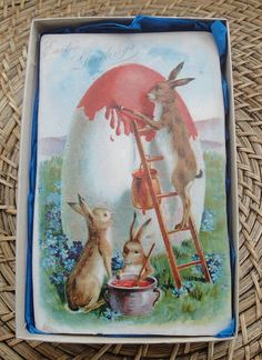 Painting the egg. Ceramic Easter tile by Welbeck Tiles