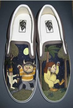 2338e70ff6cb74 Wissing coble max needs these Where the Wild Things Are Custom Vans Shoes