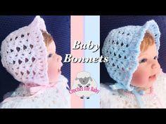 How to crochet Newborn baby bonnet - boy or girl baby caps fast and easy - . Crochets , How to crochet Newborn baby bonnet - boy or girl baby caps fast and easy - . How to crochet Newborn baby bonnet - boy or girl baby caps fa. Crochet Baby Cap, Crochet Baby Cardigan, Baby Scarf, Crochet Baby Clothes, Newborn Crochet, Easy Crochet, Baby Bonnet Pattern, Baby Hat Knitting Pattern, Baby Hat Patterns