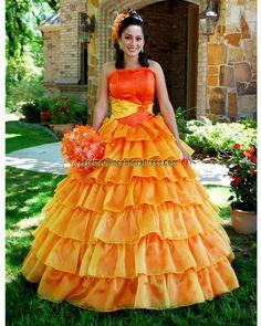 orange prom dress, Orange quinceanera gown 3021, disocunt prom dress