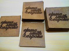 Leather garment labels Personalized Labels Custom Knitting