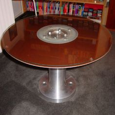 recycled hard drive disk coffee table!