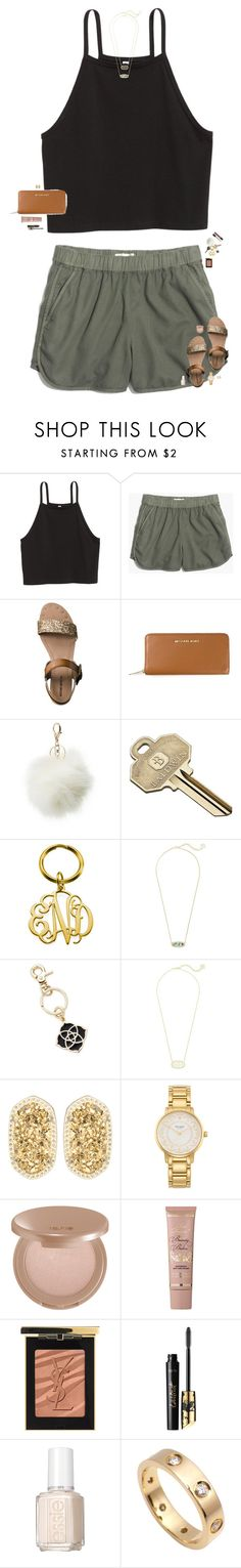 """I'm falling for your eyes, but they don't know me yet"" by maggie-prep ❤ liked on Polyvore featuring Madewell, Mossimo, MICHAEL Michael Kors, Charlotte Russe, Cherokee, Baldwin, Kendra Scott, Kate Spade, tarte and Too Faced Cosmetics"