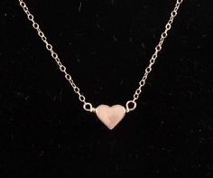 Petite Rose Gold Heart Necklace Rose Gold Filled by ColorMeMissy