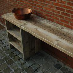 Badkamermeubel 'type n' in gebruikt steigerhout | Indoor | Meubelen | Rawcreations