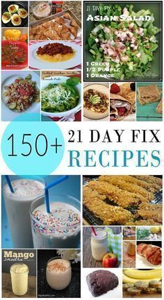 150+ 21 Day Fix Recipes, separated by breakfast, lunch, dinner, snacks, special diets, etc.