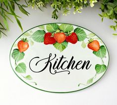 A hand painted ceramic sign to personalize your kitchen, perfect as unique gift for mom and nana! You can also ask me to paint a different word for each room of your B&B, hotel, guest house etc. to distinguish them. ★ADVANTAGES OF A CUSTOM SIGN Pantry Sign, Kitchen Decor Signs, Beach House Signs, Unique Gifts For Mom, Tile Murals, Round House, Ceramic Decor, Personalized Signs, Hand Painted Ceramics