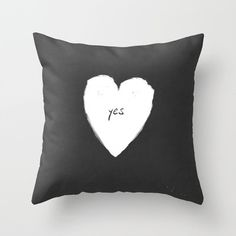 Yes pillow and heart