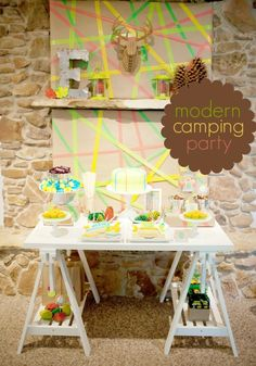 Modern Camping Birthday Party