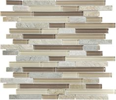 Dune Linear Mosaic Stone and Glass Quartz Wall Tile (Common: 12-in x 12-in; Actual: 11.92-in x 11.92-in)  Item # 354395 Model # 20-618