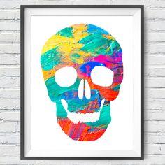 Paint Skull  #art #urbanarts #decor #digitalart #artprint #artflakes #society6 #dbh #drawdeck #fineartamerica #colab55 #touts #sortilejos #renatosette