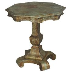 Bronzed Octagon Accent Table