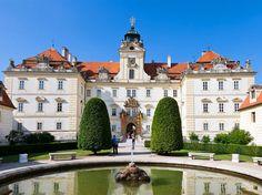 Rear wing of Valtice castle (Lednice-Valtice area), South Moravia, Czechia Prague, Historical Monuments, Czech Republic, Castle, European Countries, Mansions, Palaces, Cherries, World