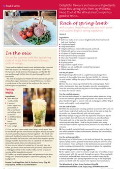 ~ Spring dining and in the mix ~ Rack of lamb and a cocktail recipe too tempting to resist! #locallife #Farnham #Surrey #food #drink #recipe #ideas #inspiration