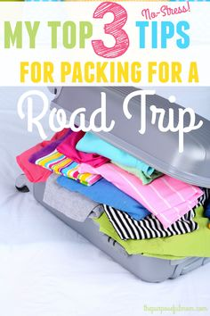 Three tips for packing for a summer or winter road trip that will help you stress less and pack well--even with kids! From a mom who has traveled cross-country many times with four children!